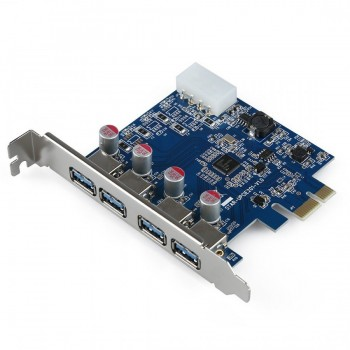 4-Port SuperSpeed USB 3.0 PCI Express Kartı