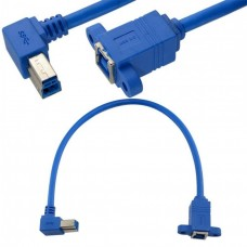 USB 3.0  B Male Right Angle to  B Female Cable - 30CM